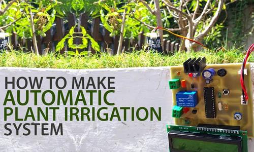 Atmega based plant irrigation automatic