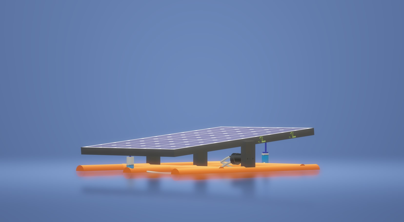 nevon floating sun tracker solar