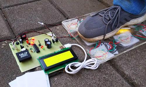 Footstep mobile charging atmega
