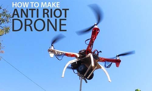 Anti riot drone