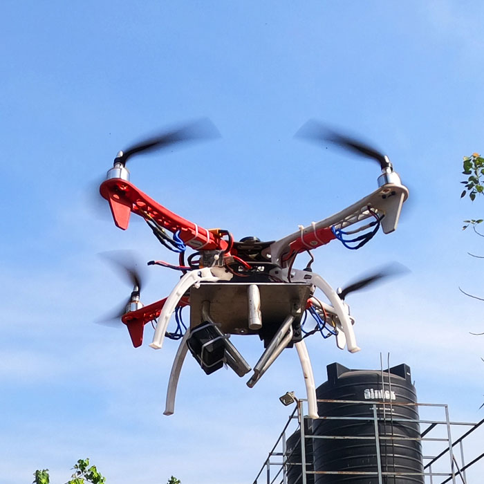 Anti-Riot Drone with Tear Gas