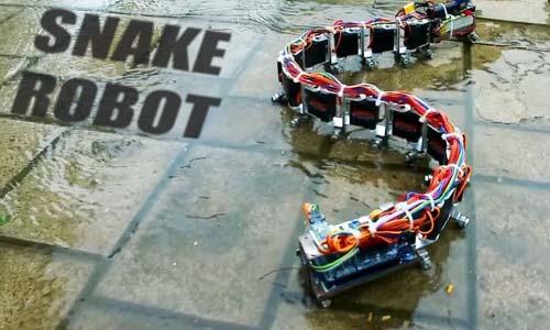Arduino IR Vision Snake Bot