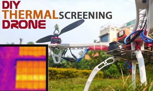 Thermal screening drone Using Ras Pi