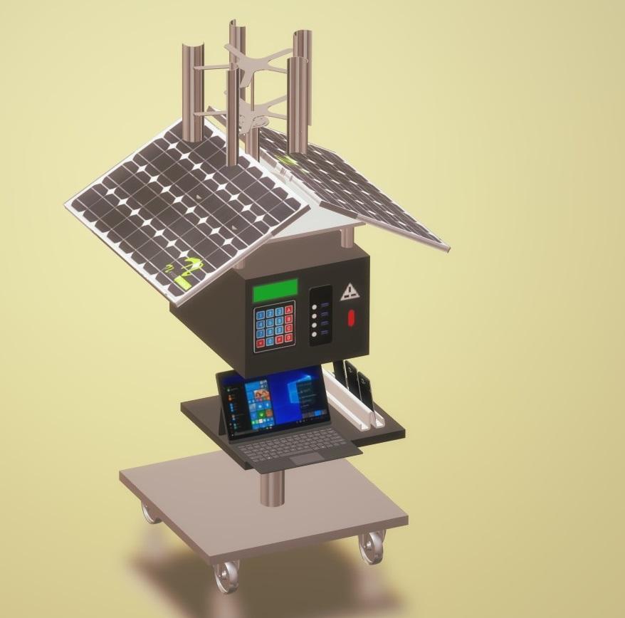 Nevon solar mobile charging station