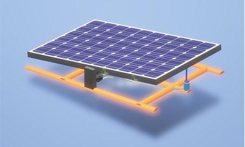 Hydraulic floating solar panel
