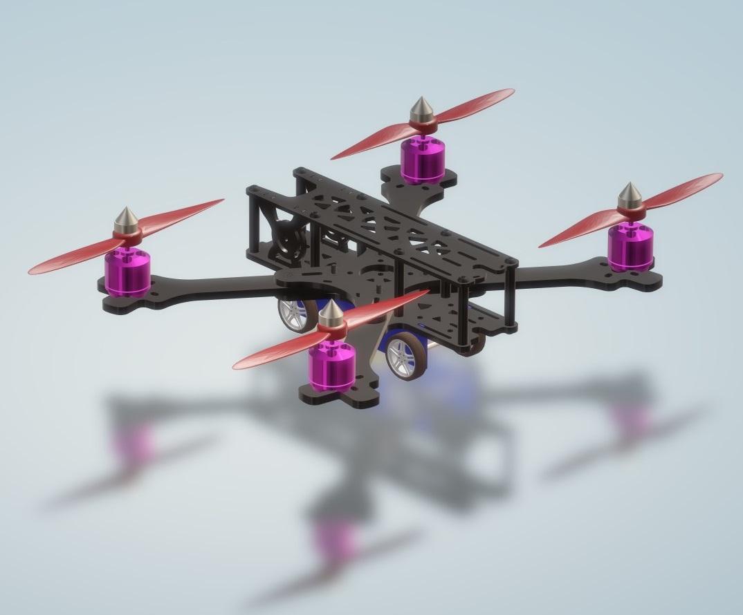 Vehicle Drone Air + Land Surveillance