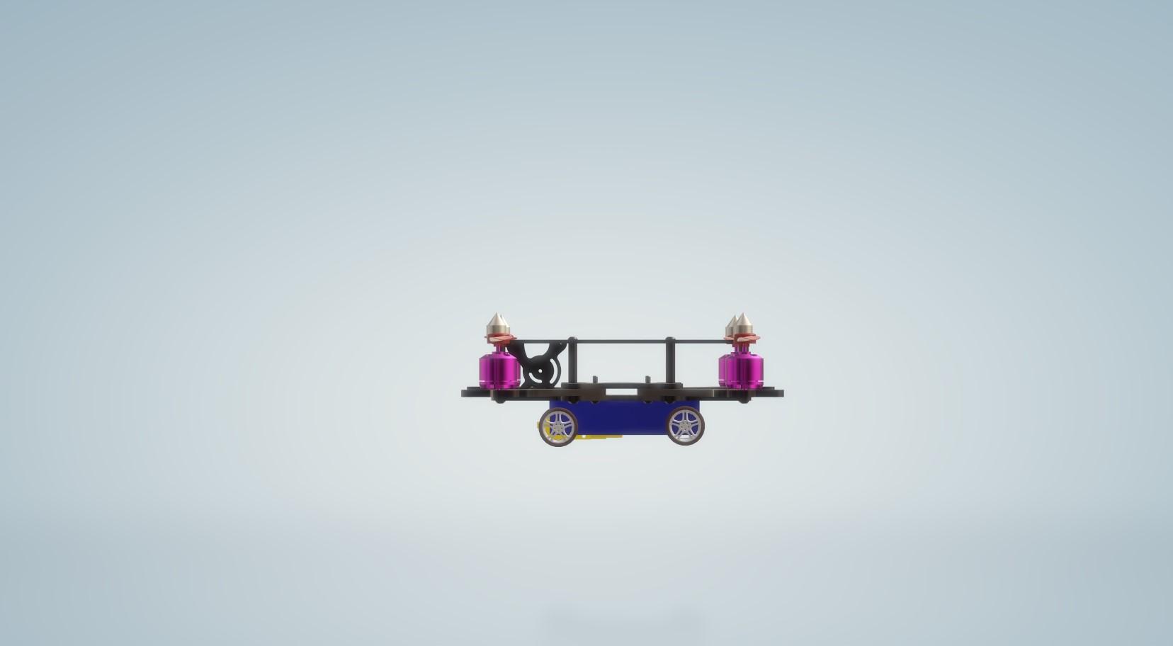 Nevon 4 wheel drone car side view