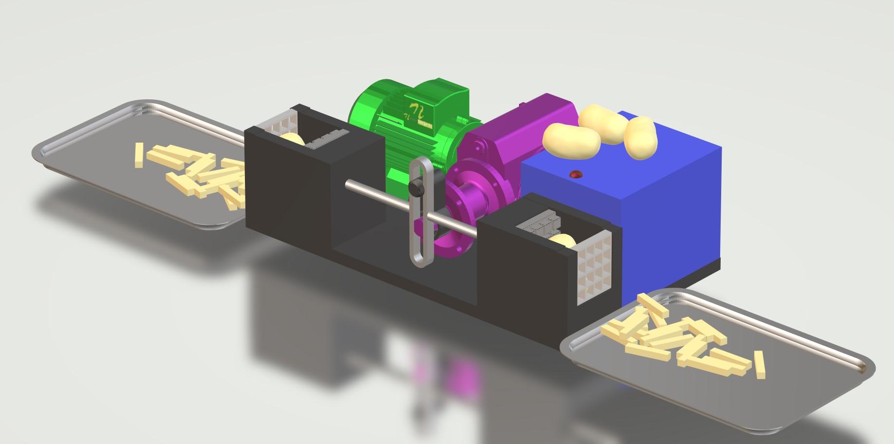 nevon potato fries machine