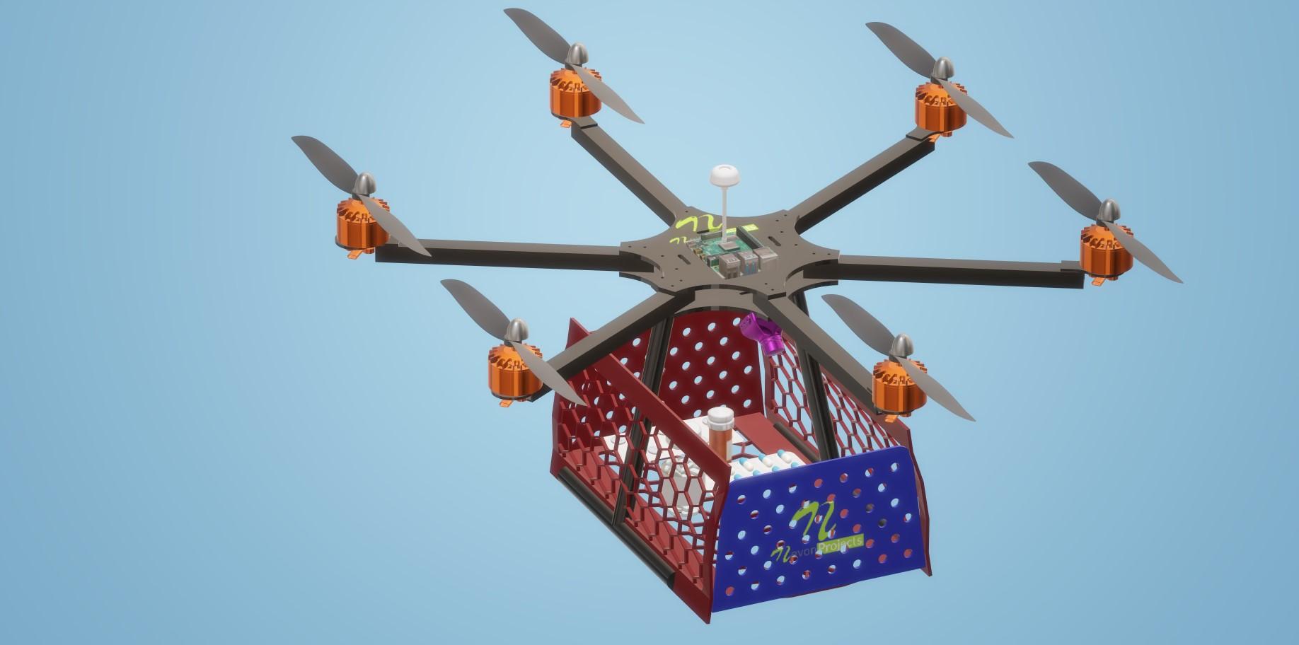nevon medicine vaccine delivery drone