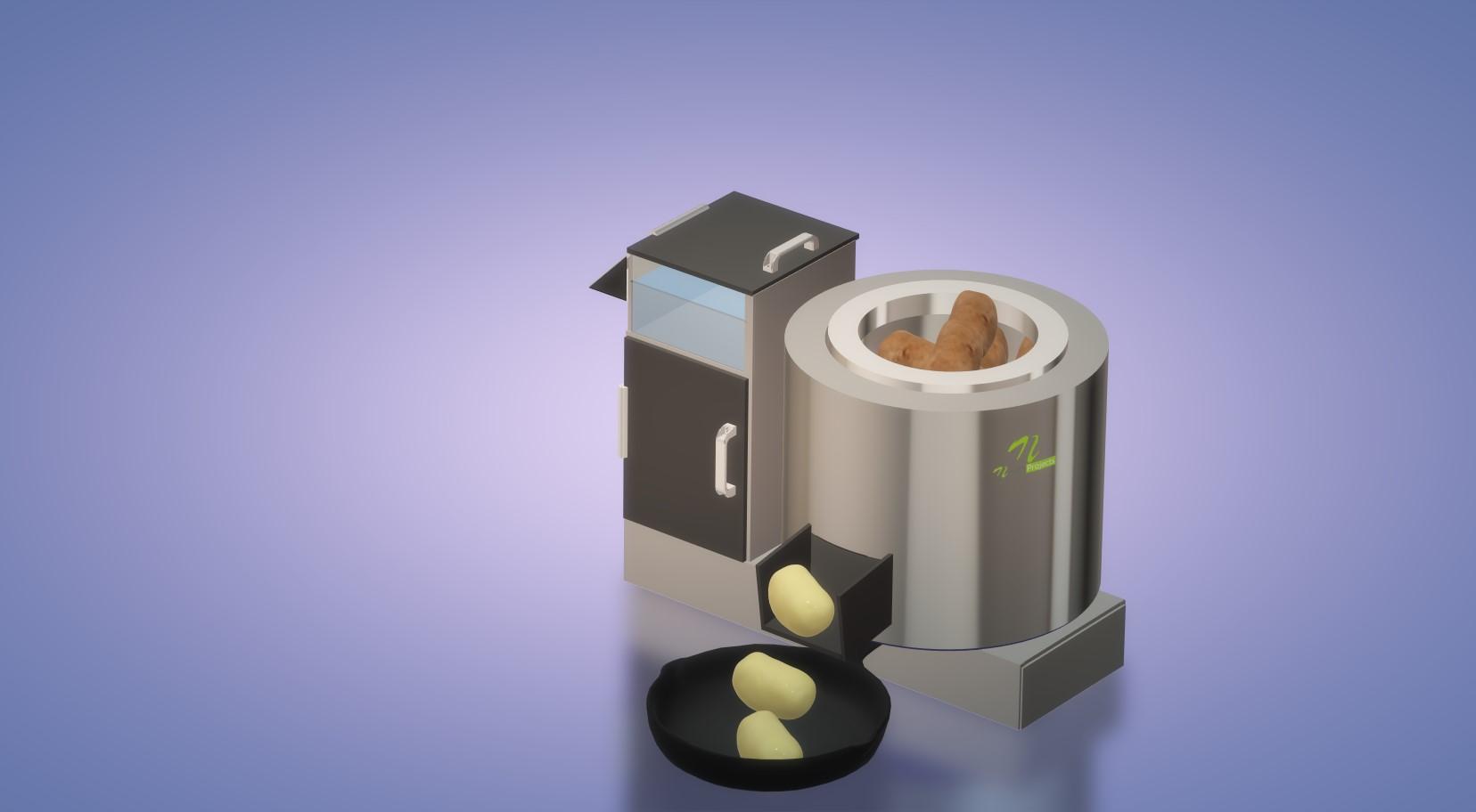 nevon potato skin peeling machine