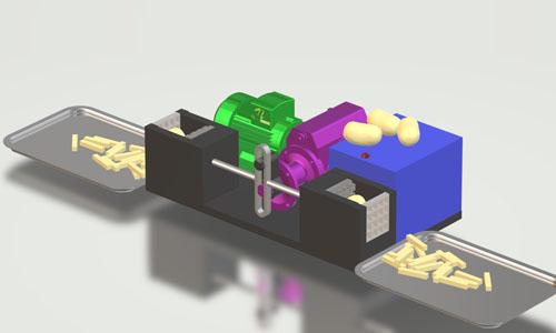 nevon dual side potato cutter machine