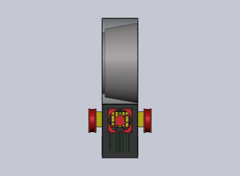 Nevon bladeless cooling fan side view