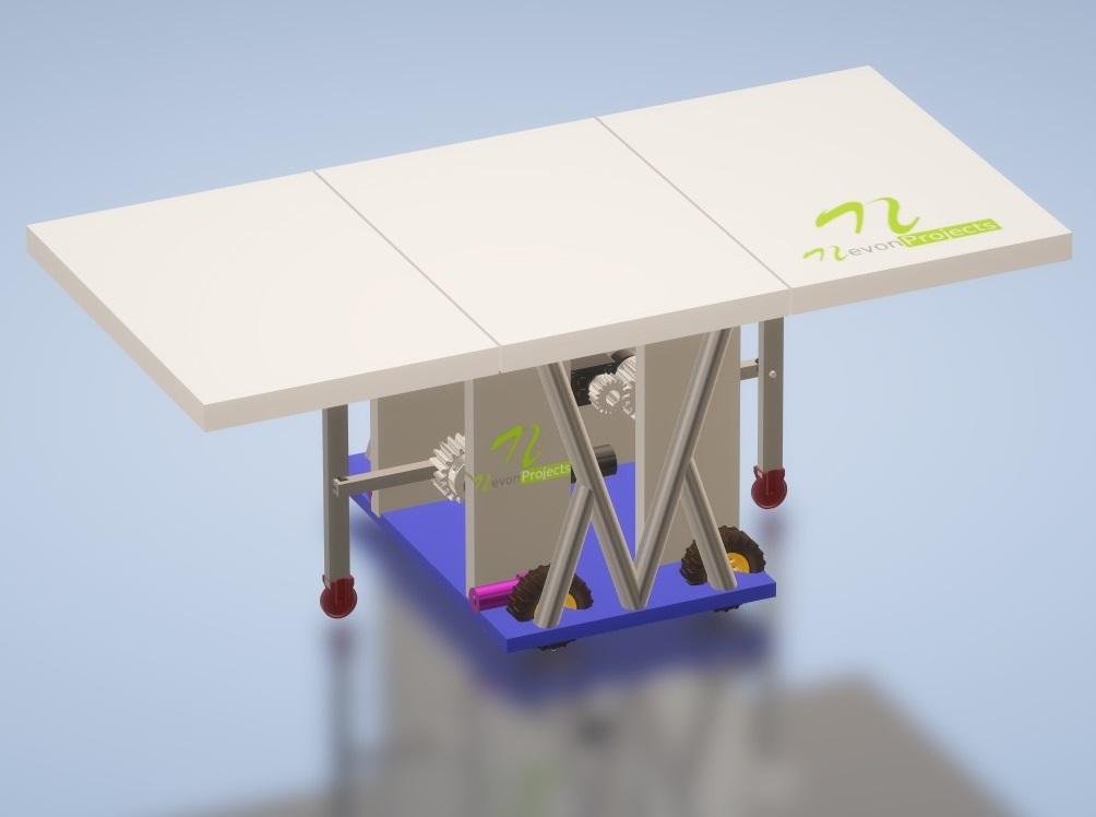 Nevon Automatic Self Folding Dining Table