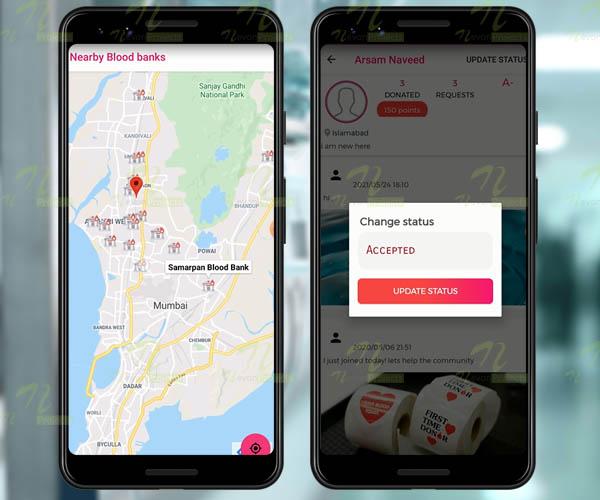 Nevon Android Blood Donation & Blood Bank Finder App