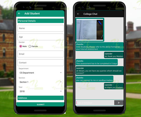 Nevon Android College Connect Chat App