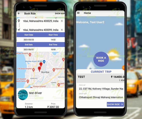 Nevon Online Driver Hiring Android App