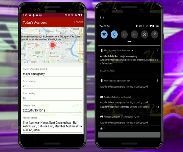 Nevon Accident Detection & Alert Android App