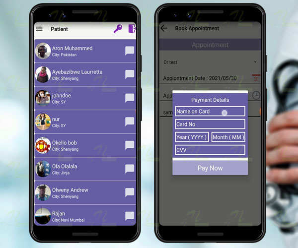 Nevon health information and doctor appointment booking App