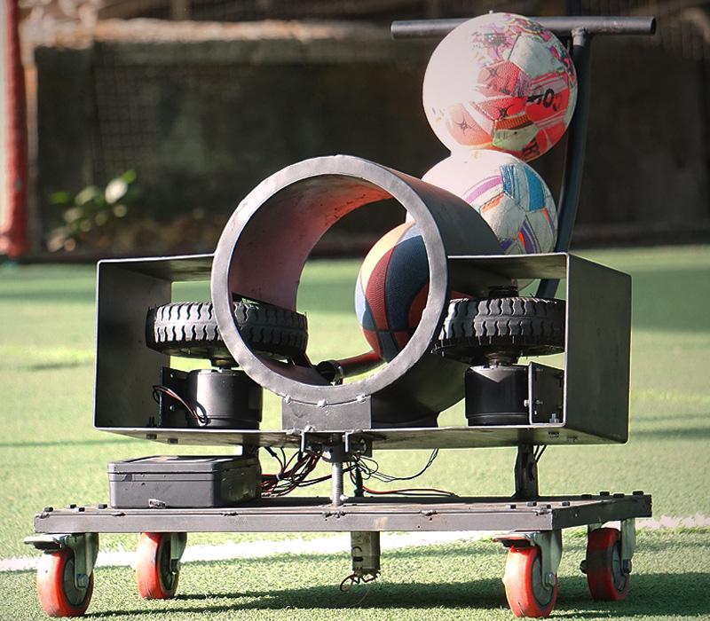 soccer ball launcher