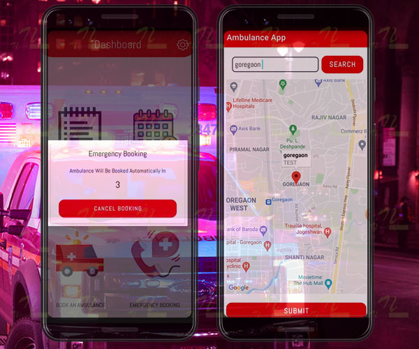 Nevon Emergency Ambulance Booking Android App