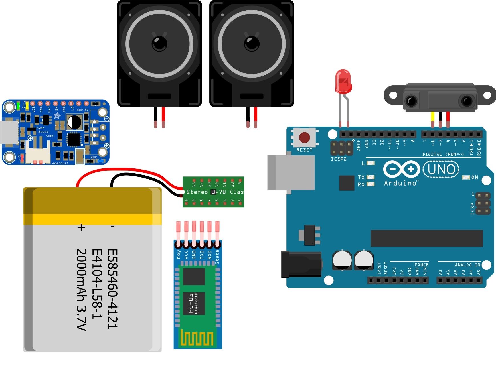 Nevon hand motion bluetooth speaker