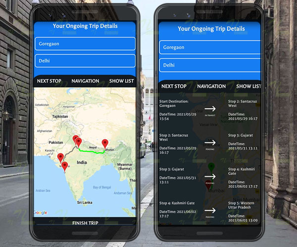 Nevon Daily Route Planner android app