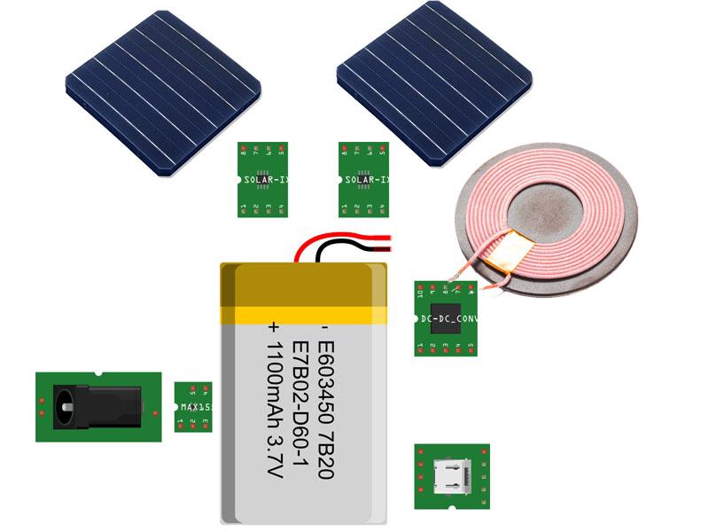 Nevon solar power bank electronic block diagram