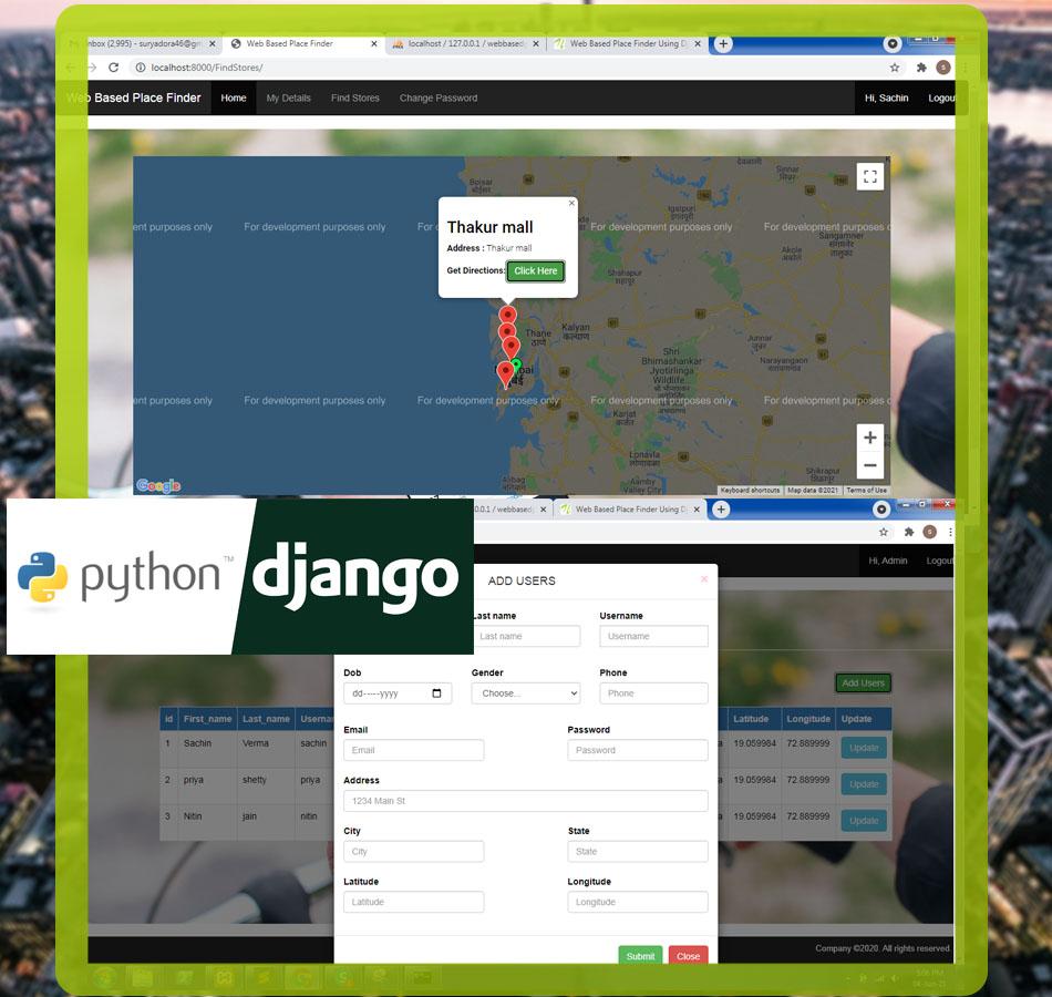 Nevon Place Finder Using Django Python