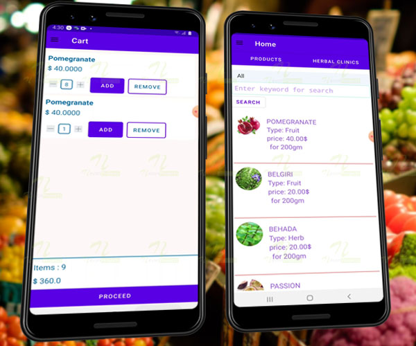 Nevon Herb & Grocery Shopping Android App
