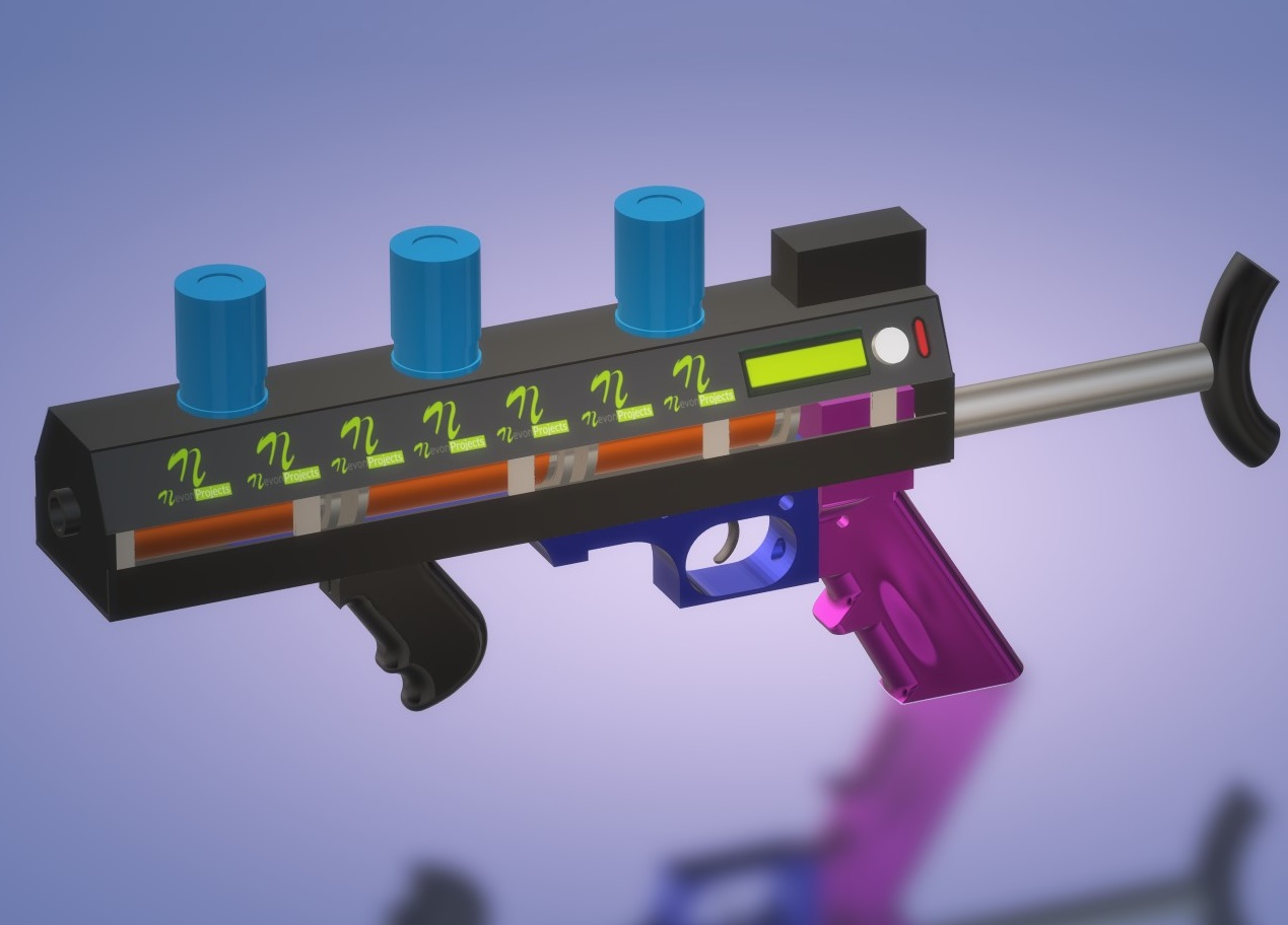 Electromagnetic Coil Gun 3 Stage